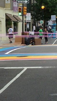 I love these Crosswalks! So glad they fixed them up for the block party.