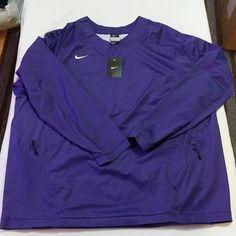 d425c6a7 Nike Baseball Vapor L/S 708188-545 Purple Pullover Windbreaker Jacket Men's  3XL