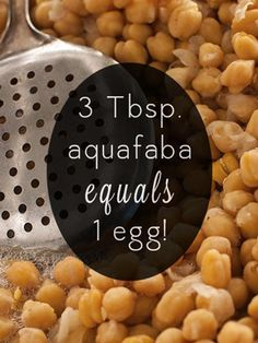 "The New Vegan Egg Replacer that's Already in Your Pantry. ""Chickpea aquafaba is probably the better egg replacer, but in some recipes I've noticed a slight beany taste. For meringues, I prefer white beans, hands down. Vegan Foods, Vegan Vegetarian, Vegetarian Recipes, Aquafaba Recipes, Vegan Egg Replacement, Whole Food Recipes, Cooking Recipes, Vegan Substitutes, Vegan Sweets"
