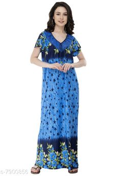 Nightdress Fomti Satin Night Wear Kaftaans for Women's Fabric: Satin Sleeve Length: Short Sleeves Pattern: Printed Multipack: 1 Sizes: Free Size (Bust Size: 44 in Length Size: 60 in) Country of Origin: India Sizes Available: Free Size, L   Catalog Rating: ★4.2 (5483)  Catalog Name: Inaaya Alluring Women Nightdresses CatalogID_1298722 C76-SC1044 Code: 182-7900856-998