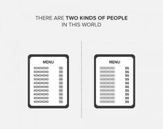 que ves en el menu