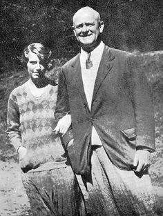 P.G. Wodehouse and daughter Leonora