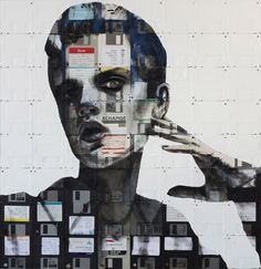 Nick Gentry creates beautiful portraits using old floppy disks as his canvas. The best kind of recycling....!