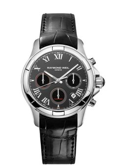 Parsifal 7260-STC-00208 Mens Watch - Parsifal automatic chronograph Steel on leather strap | RAYMOND WEIL Genève Luxury Watches