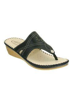 Loving this Black Vita Leather Sandal on #zulily! #zulilyfinds