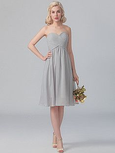Sweetheart Chiffo Dress; Color: Steel Grey; Sizes Available: 2-26W, Custom Size; Fabric: Chiffon