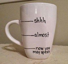 Shhh Mug - DIY Vintage Chic: Top Ten Tuesday ~ Coffee ~ No. 58