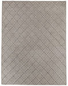 Diamante Flatweave Linen Rug - Taupe/Taupe