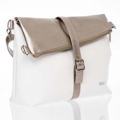 Překlápěcí kabelka JELA No. 6 bílá + světle zlatá Bags, Fashion, Handbags, Moda, Fashion Styles, Taschen, Fasion, Purse, Purses