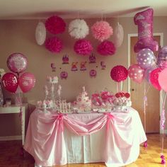 Princess Party Wall Decorations Extraordinary Ideas Ideas About Princess Party Decorations On Party Decorations Ideas Bday Girl, Girl First Birthday, 3rd Birthday Parties, Baby Birthday, Birthday Ideas, Birthday Decorations, Baby Shower Decorations, Wall Decorations, Plastic Tablecloth Decorations