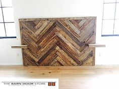 We delivered this headboard made from reclaimed barn wood,set in a herringbone pattern, complete with integrated night stands to a new custom home in Paradise Valley, AZ today. Thanks for your business Carley and enjoy your new headboard! www.thebarndoorstore.com