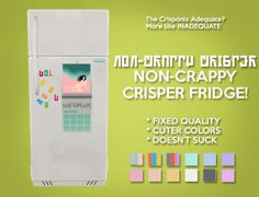 Sims 4 CC's - The Best: Non-Crappy Crisper Fridge by Gohliad