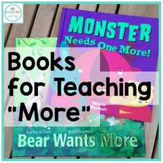 """List of several books that are perfect for speech therapists teaching """"more"""". Great for AAC users and early communicators!"""
