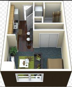 Apartment studio layout floor plans spaces 45 Ideas for 2019 Studio Apartment Floor Plans, Studio Apartment Layout, Studio Layout, Apartment Plans, Apartment Design, The Plan, How To Plan, 400 Sq Ft House, Deco Studio