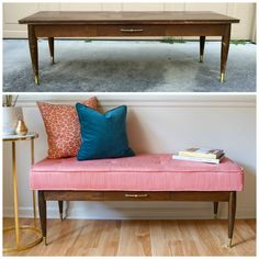 Best Thrift Store Furniture Makeovers - - You all know by now that I am second hand junkie but not all my finds are ready to move right in. Most of them are diamonds in the rough but fortunately I am good at spotting potential. Today I tho…. Diy Old Furniture Makeover, Diy Furniture Couch, Repurposed Furniture, Furniture Design, Furniture Projects, Chair Makeover, Dresser Repurposed, Geek Furniture, Refinished Furniture