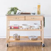 Found it at Wayfair - Kitchen Island Cart with Stainless Steel Top