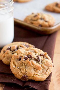 Peanutella Stuffed Brown Butter & Sea Salt Chocolate Chip Cookies