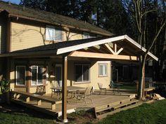 24 Ideas Backyard Porch Ideas Covered Decks Pergolas How To Build Deck With Pergola, Patio Roof, Pergola Patio, Backyard Patio, Pergola Ideas, Porch Ideas, Patio Ideas, Pergola Swing, Corner Pergola