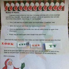 Christmas Scavenger Hunt for big final present!