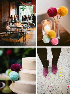 bash, please - i believe i'd love to have a pom-pom wedding myself