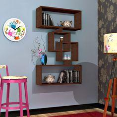 HARMONY Mensola moderna da muro -Mensola Parete - Mensola Libreria - Scaffale pensile in legno per studio / soggiorno (Wengé): Amazon.it: Casa e cucina