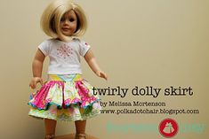 American girl sized twirly skirt tutorial