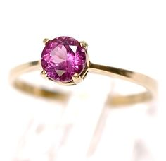 Bright Pink Tourmaline & 10K Gold by RubyInTheDustVintage on Etsy  #promisering #hotpink #vintageengagementring #vintagewedding #pinktourmaline #vintagestyle