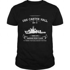 I Love USS carter hall T-shirt Shirts & Tees