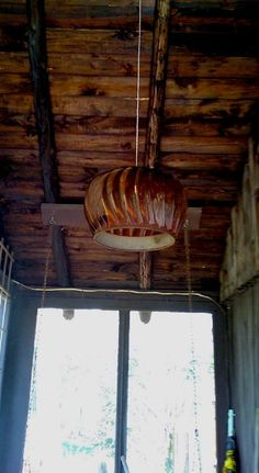 Vintage Metal Turbine Roof Vent Chandelier Pendant Lamp