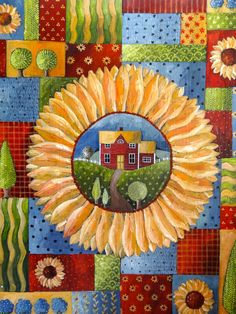 SUNFLOWER SCENIC by ChristineGraf on Etsy