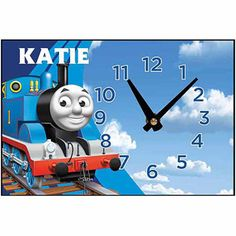 Desk Clock Thomas And Friends Clouds Train Party Table