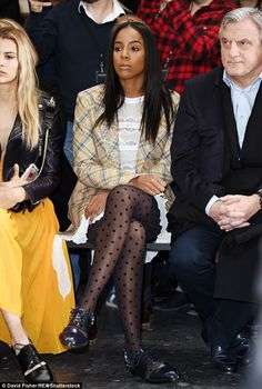 Kelly Rowland joins Lewis Hamilton at John Galliano PFW show   Daily Mail Online