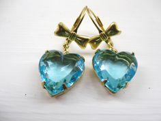 estate jewelry heart earrings - Google Search