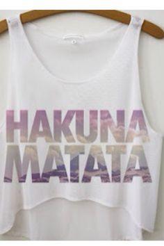 New Arrival 2016 Summer Style Women T shirt Hakuna Matata Print T-shirt Casual Cropped Tank Tops Hakuna Matata, Crop Top Outfits, Printed Tank Tops, Crop Tops, T Shirts For Women, Clothes For Women, Cropped Tank Top, Women's Summer Fashion, Casual T Shirts