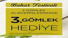 Fabrika Bahar Festivaline Özel 2 Gömlek Alana 3. Gömlek Hediye