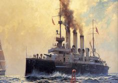 Crucero acorazado SMS Kaiser Karl VI, comisionado en 1900, de 6.200 t, 21 nudos, armado con dos piezas de 24 cm y ocho de 15, con una cintura acorazada que alcanzaba un espesor máximo de 220 mm. Durante la Gran Guerra participó en la defensa de Cattaro en Agosto de 1914, ayudando a silenciar los cañones Montenegrinos que bombardeaban el puerto. El resto de la guerra lo pasó confinado en la misma base, participando su tripulación en el motín de Cattaro... Más en www.elgrancapitan.org/foro