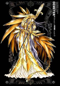 Anime Demeter, Greek Goddess of the harvest and fertility