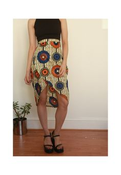 African Print High Waisted Wrap Skirt | One Boutique | ASOS Marketplace