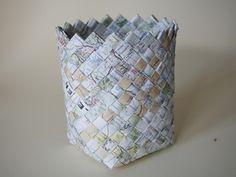 Woven Map Basket