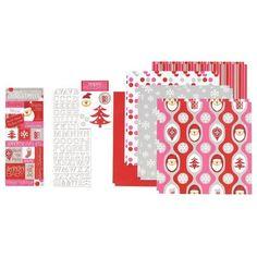 Retro Holiday Page Kit - Hobby Lobby. Fun and retro Christmas--love it!