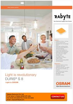 DURIS S 8 LEDs from Osram, provides totally new opportunities for all indoor lighting and outdoor door lighting especially directional retrofit applications and It allows completely new designs in the area of directional lights and retrofits as well as high luminous flux clusters. For more Information & Inquiry please visit @ Rabyte.com  #highbaylights #powerled #directionalretrofits #rabyteelectronics #streetlight #powerled #consumerlights #rabyteelectronics #highpowerled #indoorlighting