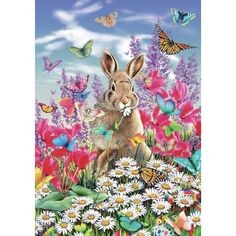 Easter Bunny 250 Piece Wooden Jigsaw Puzzle http://www.easterdepot.com/easter-bunny-250-piece-wooden-jigsaw-puzzle-2/ #easter This is a 250 piece jigsaw puzzle showing an Easter Bunny amid flowers and butterflies. It is made by British wooden puzzle manufacturer Wentworth. All pieces are laser cut and the puzzle contains whimsies, pieces that reflect the theme of the puzzle. From the manufacturer: This Wentworth wooden puzzle is a premium quality traditional gift. It is cut in ..