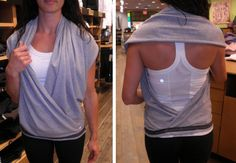 Way to wear the vinyasa scarf from the lululemon fb page