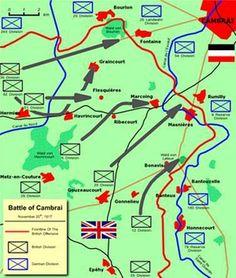 Slag bij Cambrai, begon op 20 November 1917 en eindigde op 7 December 1917. Het waren de Britten tegen de Duitsers, en ookal hadden de Britten een succesvol begin, toch wonnen de Duitsers.