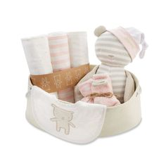 Baby Aspen 10-pc. Pink & Beige Welcome Home Baby Gift Set
