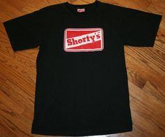 Vintage Shorty's Skateboard T-Shirt Men's Medium Hip Hop Skater  #Shortys #GraphicTee