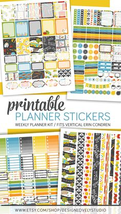 Back to School Printable Planner Stickers for use with Erin Condren Life Planner Vertical. Click the image to see this product in my shop!
