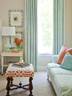 Just like the sky itself, this shade of aqua has a serene, calming presence. Pair it with soft orange accessories for a combination that will look just as at home by the shore as it does in the city. Design by Tobi Fairley