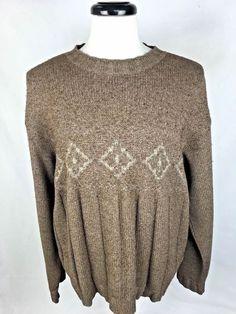 ERMENEGILDO ZEGNA Sweater Brown Wool Long Sleeve XL #ErmenegildoZegna #Crewneck