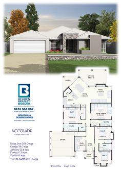 Reuben Beazley Builder - Bendigo Builder - Home# like the plan except the kitchen, different facade though Free House Plans, Modern House Plans, House Floor Plans, Steel Framing, House Plan With Loft, Big Houses, Deco, Building A House, New Homes